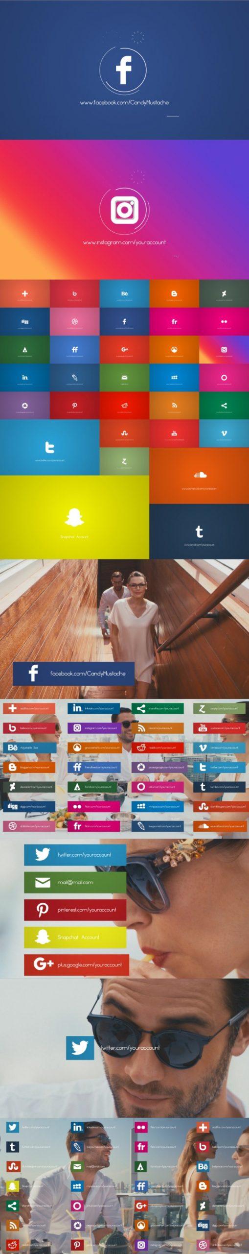 پروژه آماده پریمیر شبکه های اجتماعی